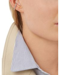 Anissa Kermiche - Metallic Diamond & Rose-gold Ear Cuff - Lyst