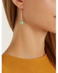 Irene Neuwirth - Multicolor Diamond, Emerald & Rose-gold Earring - Lyst