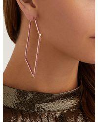 Lynn Ban - Metallic Sapphire & Rose Gold Plated Geometric Earrings - Lyst
