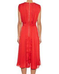 Maison Rabih Kayrouz - Red V-neck Crepe Dress - Lyst