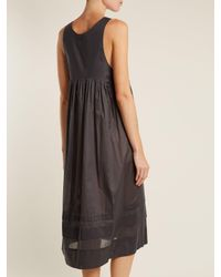 Three Graces London - Multicolor Lindera V-neck Pleated Cotton Nightdress - Lyst
