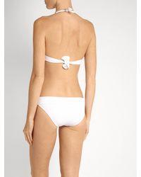 Melissa Odabash - White Brussels Piqué Halterneck Bikini - Lyst