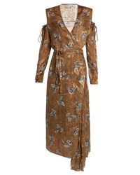Preen By Thornton Bregazzi - Multicolor Hayett Printed Satin-devoré Dress - Lyst