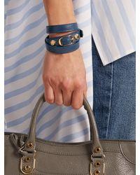 Balenciaga - Blue Classic Bracelet L - Lyst