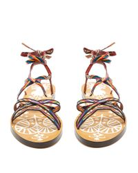 Valentino - Multicolor Santeria Native Couture Leather Sandals - Lyst