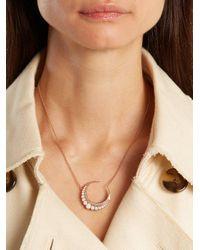 Jacquie Aiche - White Diamond, Opal & Rose-gold Necklace - Lyst