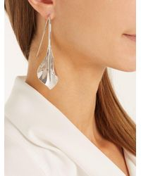 Ryan Storer - Metallic Lily Drop Earrings - Lyst