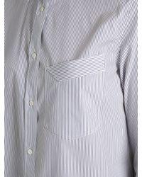 Jil Sander - White Chiara Contrast-cuff Cotton-poplin Shirt - Lyst