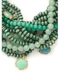 Rosantica By Michela Panero - Green Inganno Multi-strand Choker - Lyst