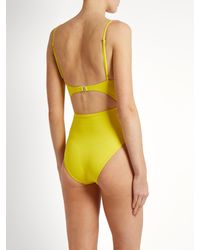 Mara Hoffman - Yellow Tie-front Cut-out Swimsuit - Lyst