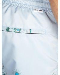 Thorsun - Blue Short de bain coupe Titan à imprimé Volcano for Men - Lyst