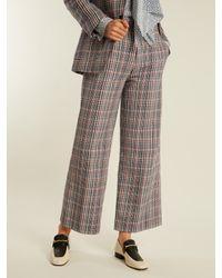 Joseph - Multicolor Ferrandi Prince Of Wales-checked Trousers - Lyst
