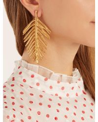 Oscar de la Renta - Metallic Palm Leaf-drop Earrings - Lyst