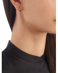 Elise Dray - Metallic Diamond, Onyx & White-gold Mini Rock Earring - Lyst