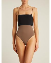 Mara Hoffman - Multicolor Contrast-panel Swimsuit - Lyst