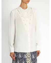 Altuzarra - White Amanda Faux-pearl Embellished Blouse - Lyst