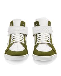 Jimmy Choo - Multicolor Lewis High-top Leather And Suede Trainers for Men - Lyst