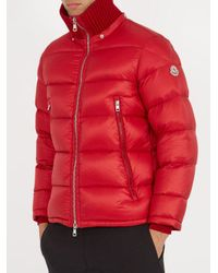 Moncler - Red Pascal Quilted Down Jacket for Men - Lyst