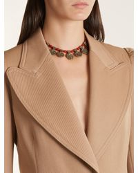 Etro - Multicolor Engraved-pendant Beaded Necklace - Lyst