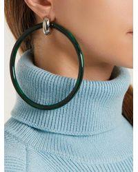 Balenciaga - Green Acrylic Hoop Earrings - Lyst