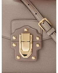 Dolce & Gabbana - Gray Lucia Lizard-effect Leather Shoulder Bag - Lyst