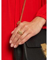 Aurelie Bidermann - Metallic Alhambra Set Of Two Gold-plated Rings - Lyst