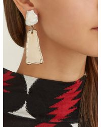 Proenza Schouler - Gray Stone Hammered Clip Earrings - Lyst