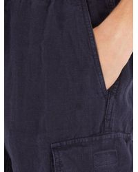 Vilebrequin - Blue Baie Drawstring Linen Shorts for Men - Lyst