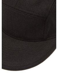 Snow Peak - Black Felted Baseball Cap for Men - Lyst