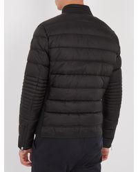 Moncler - Black Aubin Down Biker Jacket for Men - Lyst