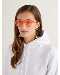 Retrosuperfuture - Orange The Iconic Series Round Frame Sunglasses - Lyst