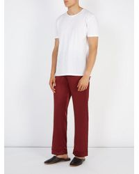 Meng - Red Wide-leg Silk-satin Pyjama Trousers for Men - Lyst