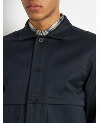 A.P.C. - Blue Cotton-blend Field Jacket for Men - Lyst