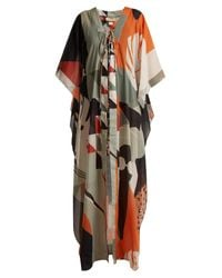 Adriana Degreas - Black Tropiques Abstract Print Cotton Kaftan - Lyst