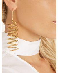 Maison Margiela - Metallic Spiral-shaped Earrings - Lyst