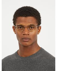 Cutler & Gross - Brown Pa0146 Round-frame Glasses for Men - Lyst