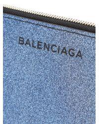 Balenciaga - Blue Essential Baguette Clutch - Lyst