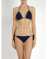 Anna Kosturova | Blue Crochet Bikini Briefs | Lyst