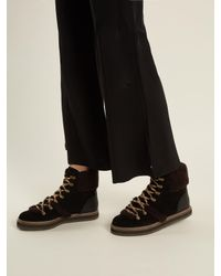 See By Chloé - Black Shearling Booties - Lyst