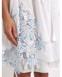 N°21 White Lace-panel Cotton And Silk-blend Dress