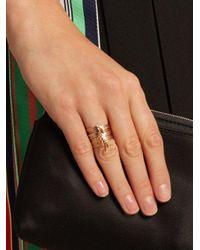 Jacquie Aiche - Metallic Diamond & Rose-gold Ring - Lyst