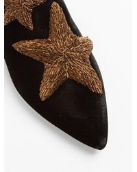 Sanayi 313 - Black Stelle Embroidered Velvet Slipper Shoes - Lyst