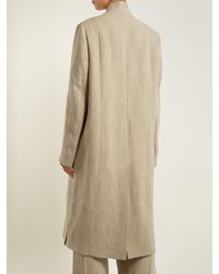 Golden Goose Deluxe Brand - Gray Anina Double-breasted Frayed-edge Canvas Coat - Lyst