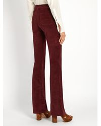 MiH Jeans - Blue Marrakesh High-rise Kick-flare Velvet Trousers - Lyst