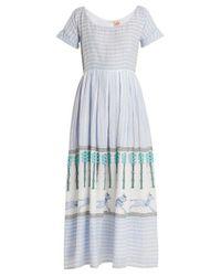 Le Sirenuse Multicolor Nola Horse And Palms Maxi Dress