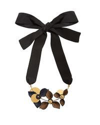 Marni | Multicolor Floral Leather-petal Self-tie Necklace | Lyst