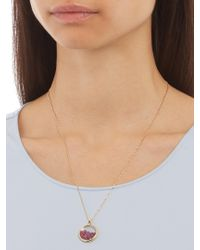 Aurelie Bidermann - Metallic Ruby & Yellow-gold Necklace - Lyst