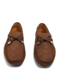 Tod's - Brown Gommino Leather Driving Loafers for Men - Lyst