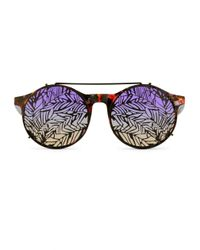 Matthew Williamson | Pink Purple Sunrise Sunglasses With Clip-on Frames | Lyst