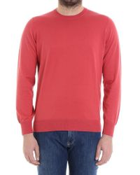 Brunello Cucinelli - Red Cotton Sweater for Men - Lyst